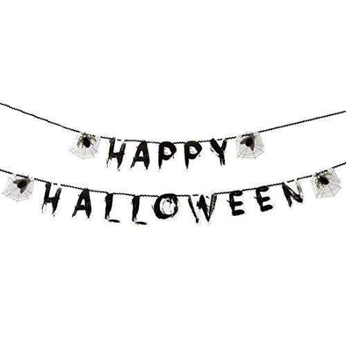 Girlande Halloween Spinne Spinnennetz Käfer Happy Halloween Honeycomb Waben