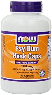 Now Foods Psyllium Husk 700mg with Pectin, Capsules, 180-Count by NOW Foods