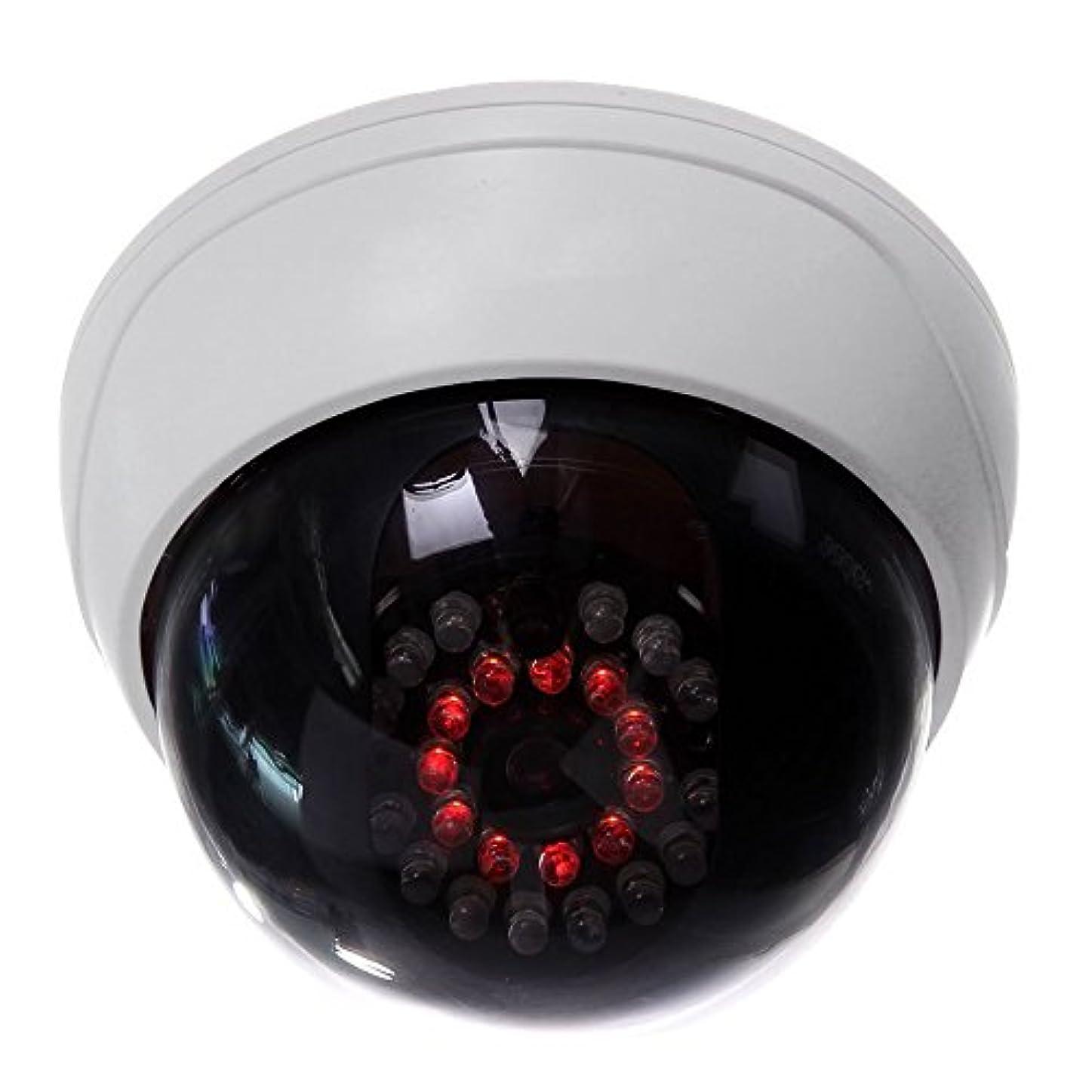 もっともらしい中国驚くばかりGaoominy インドアCCTVの偽のダミードームセキュリティカメラ IR LED付き 白