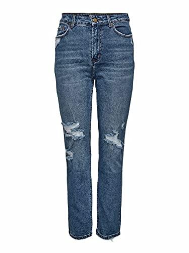 ONLY Damen ONLEMILY HW ST Crop AN Dest MAE1921 NOOS Jeans, Medium Blue Denim, 30/32