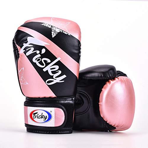 Conjunto de Guantes de Boxeo para niños 4oz 6oz | Guantes para niños | Guantes de Boxeo para Mujer | Guantes MMA | 3 a 12 años | Lucha de Muay Thai Taekwondo Sanda | Rosa Rojo Azul Blanco