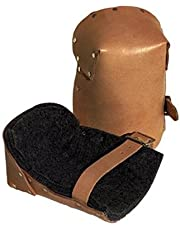 NATURAL PRO LEATHER KNEEPADS W/BUCKLE FA