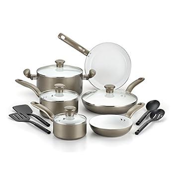 T-Fal C728SE74 Initiatives Ceramic Nonstick Cookware Set