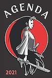 Agenda 2021 Manga: agenda 2021 semana vista - planificador semanal y mensual 2021 A5 - de enero a diciembre 21 - una Semana en dos Páginas - agenda anual 2021 - regalo manga hombre mujer