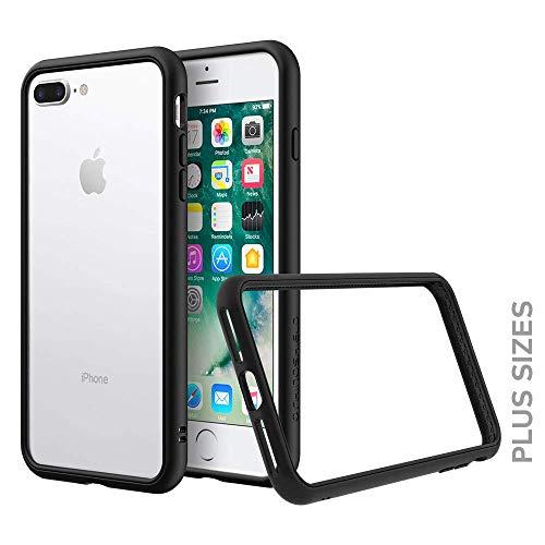 RhinoShield Coque Compatible avec [iPhone 7 Plus / 8 Plus] | CrashGuard NX - Protection Fine Personnalisable avec Technologie Absorption des Chocs [sans BPA] + [Programme de Remplacement] - Noir