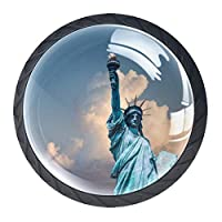 ドレッサー引き出し用キャビネットノブ4つホームオフィス食器棚ニューヨーク用キャビネットハンドルプル