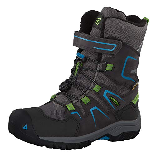 Keen Unisex Kid's Magnet/Blue High Rise Hiking Boots