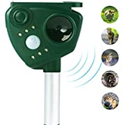 Wikoo Ultrasonic Pest Control, Solar Power Ultrasonic Motion Activated Animal Repeller, Waterproof Animals Repellent, Motion Activated Outdoor Repeller