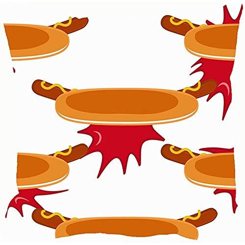 Butlerame Hot Dogs Ketchup Spritzer Americanfood und Getränke Kissenbezüge Accent Home Sofa Cover Pillow Gift