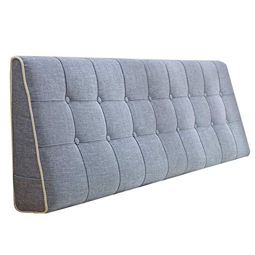 QIANCHENG-Cushion Kopfteil Kissen für Bett Rückenlehnen Bedside Pads Cover Bett Rückenlehne mit Keilen Taillenauflage Flachs waschbares Tuch Multifunktionskissen, 7 Farben, Größe anpassbar