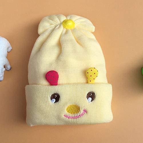 Aibccr Sombrero de bebé de Doble Capa Suave Sombrero de Bola de Piel de Invierno Sombrero de niño Sombrero de bebé de otoño e Invierno