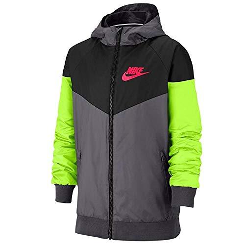 Nike Windrunner Kapuzenjacke für Jungen, Sportkleidung, 850443-021 - Grau - X-Large