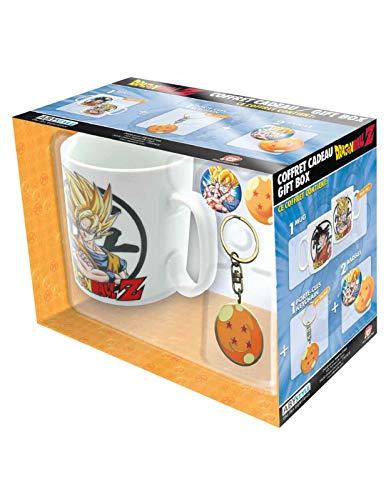 Dragonpro 599386031 - Confezione tazza, portachiavi e targhette dragon ball