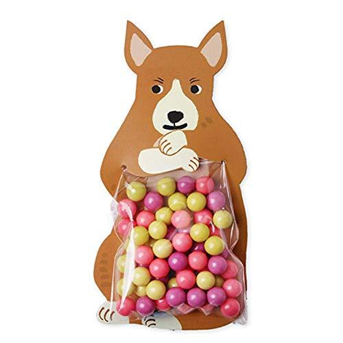 Fat Bear 10pcs Essen Karte Verpackung Tasche Süß Cartoon Tier Backen Dekorativ Tasche Karte Für Candy Kekse 10 Blätter/Tasche - Känguru