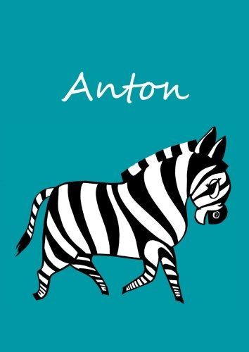 Notebook / diary / coloring book - Anton: DIN A4 - Zebra