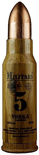 Geschenkidee Dębowa Military Mini | Sammlerstück | Polnischer Wodka | 1 x 40%, 0,05 Liter