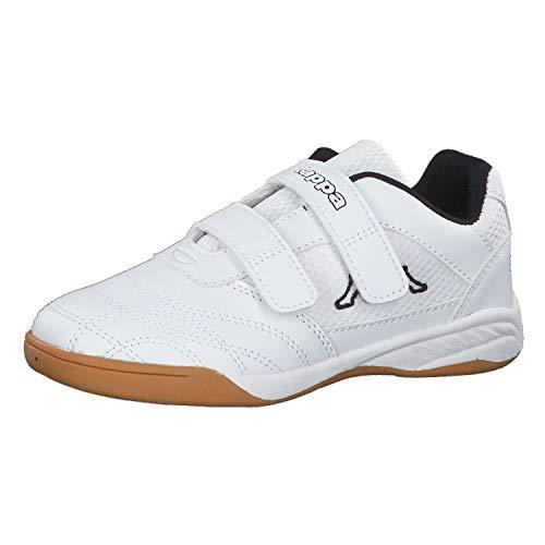 Kappa Unisex-Kinder Kickoff Sneaker, Weiß (1011 white/black), 37 EU