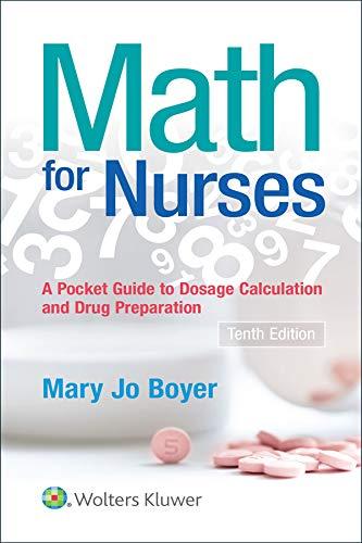 41SxAseZm2L - Math For Nurses: A Pocket Guide to Dosage Calculations and Drug Preparation