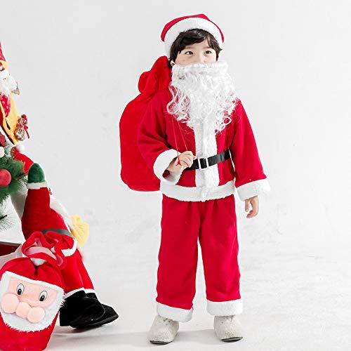 MonthYue Kerstman Kostuum Kind, Unisex Kids Jongens Meisjes Rode Kerstman Kostuum Kerstfeest Giver Cosplay Kleding Hoeden