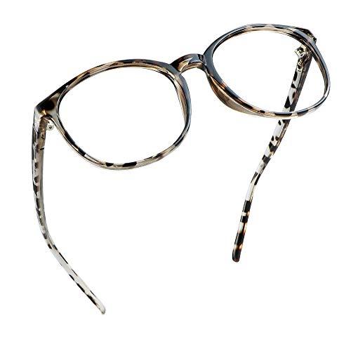 LifeArt Blaulicht-Schutzbrillen, Computer-Lesebrillen, Spielbrillen, TV-Brillen für Frauen, Männer, Blendschutz (Leopard,keine Vergrößerung)