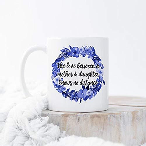 Taza para mudanza, taza para el día de la madre, regalo de larga distancia para mamá, taza de larga distancia para madre