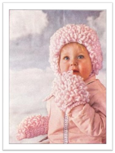 #2049 LOOP STITCH CAP CENTER SECTION VINTAGE CROCHET PATTERN (English Edition)