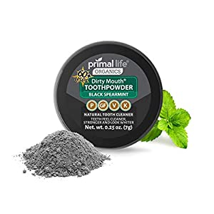 Natural Tooth Powder Dirty Mouth Organic Toothpowder BEST All Natural Dental Cleanser – Gently Polishes, Whitens, Re-Mineralizes and Strengthens Teeth