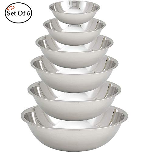 Tiger Chef Stainless Steel Mixing Bowls Set for...