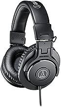 Audio-Technica ATH-M30x Professional Studio Monitor Headphones (Renewed)