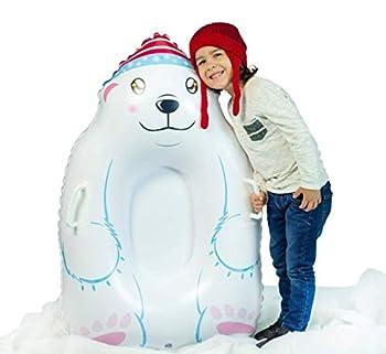 SNOWCANDY Animal Inflatable Snow Sled 37  Polar Bear