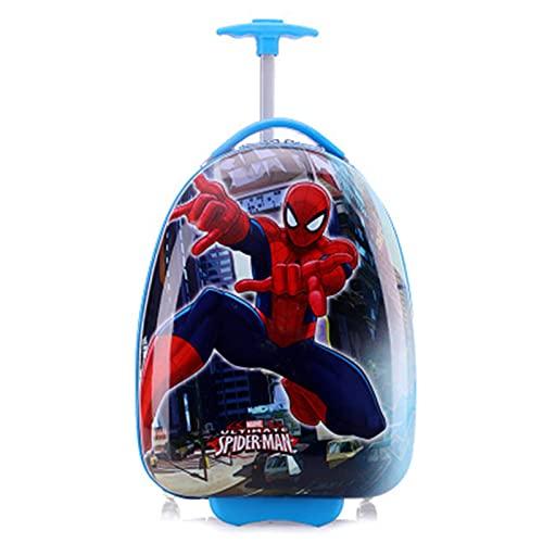 Valigia da Viaggio Svegli dei Bambini dei Cartoni Animati, Bagagli di Viaggio del Ragazzo E della Ragazza, Carrello Leggero della Guscio Duro della Valigia con 2 Ruote,Spiderman