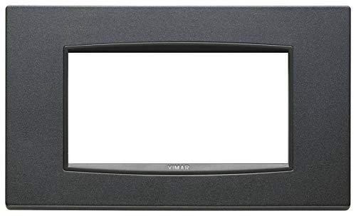 Vimar serie eikon - Placa classic 4 módulo metal antracita mate