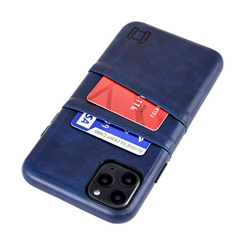 Dockem Exec M2 Funda Cartera para iPhone 11 Pro MAX (6.5): Funda Tarjetero Slim con Placa de Metal Integrada para Soporte Magnético: Serie M [Azul Marino]