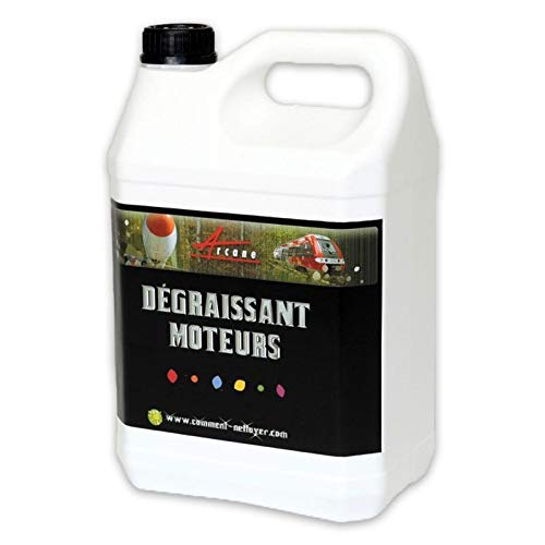 Dégraissant moteur graisses épaisses cambouis molykote Ester méthylique de colza DÉGRAISSANT MOTEURS - Transparente - Liquide - 5 L - ARCANE INDUSTRIES