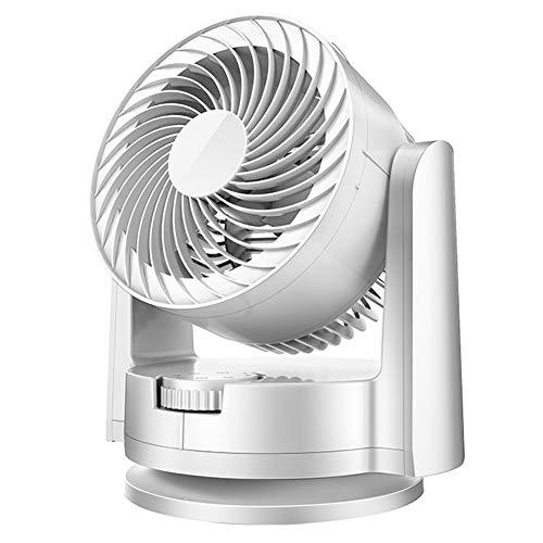 Ventilador turbo, ventilador de mesa potente, ventilador silencioso, para escritorio, sacudidas, convección