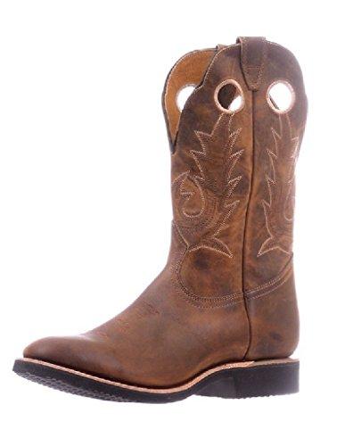 Botas americanas–Botas cowboy bo-5222-e (pie normal)–hombre–Piel–Marrón, Marrón (Hillbilly Golden), 44
