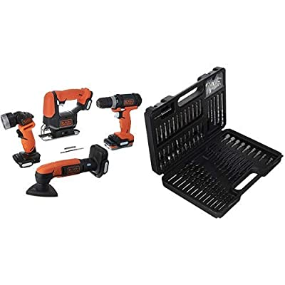 BLACK+DECKER GoPAK Cordless Drill Combo Kit, 4 Tool (BDCK502C1)