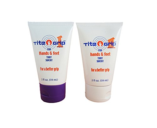 Tite Grip I and Tite Grip II for hands and feet that sweat