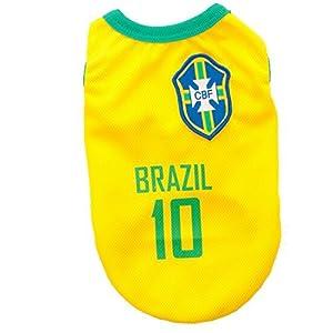 animally® Brésil Maillot pour chien–Dog–Pet Clothes–T-Shirt–Vêtements–Brasil (XL)