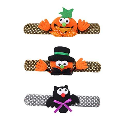 Lurrose armbandpompoenslagplug manchetarmbanden van de klep 3 stuks voor kindermeisjes verjaardags- Halloween party