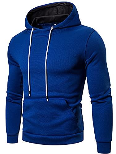 Sudaderas con capucha para hombre con bolsillos de canguro para deporte de manga larga con cordón superior con capucha