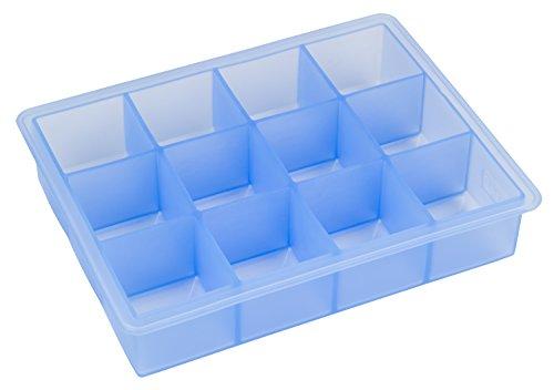 lurch 20465 Eiswürfelbereiter Whisky für 12 Eiswürfel (4 x4 cm) aus 100{49da8219270fdf4cd8e7146e6c6d51f089e4af579814ca01e2f65a463af8b1fb} BPA-freiem Platin Silikon, eisblau