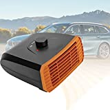 BIWAHumor Car Heater That Plugs into Cigarette Lighter, Car Windshield Defogger Defroster, with Suction Cup Base & Rotating Base Suitable for General Types of Cars (Color : Orange)