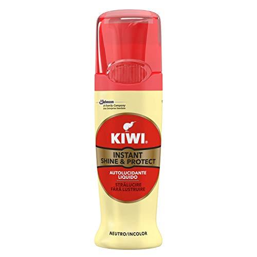 KIWI Autolucidante Liquido con Spugna Incorporata per la Pulizia delle Scarpe, Facile da Utilizzare, 75 ml, Neutro
