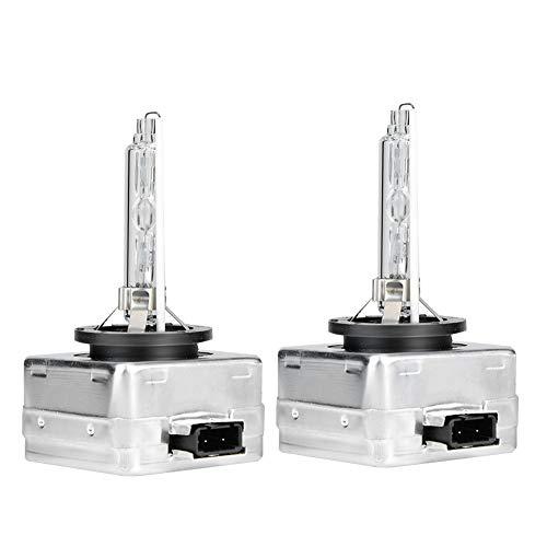 aqxreight - 2Pcs D1S 6000K 35W Faros delanteros de coche Bombillas de repuesto para lámpara de xenón