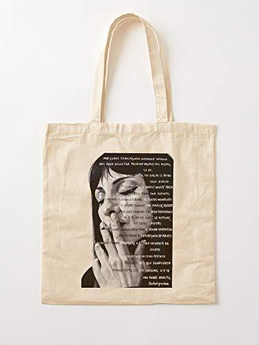 Saltandlaceintimates La Portrait Najwa Black White De And Girls Papel A Nimri Vis Borsa in cotone Tote | Borse spesa in tela Borse shopping con manici in cotone resistente
