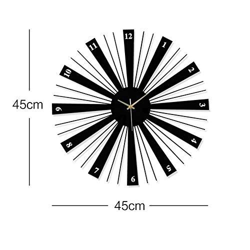 Susichou Reloj de pared de oficina elegante reloj de pared decorativo moderno minimalista silencioso reloj de cuarzo