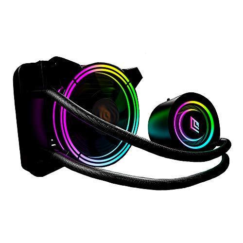 Noua Siberus TR120 ARGB Sistema di Raffreddamento Radiatore da 120mm Dissipatore Liquido 1 Ventola RGB Rainbow Addressable 5V 3-Pin ADD...