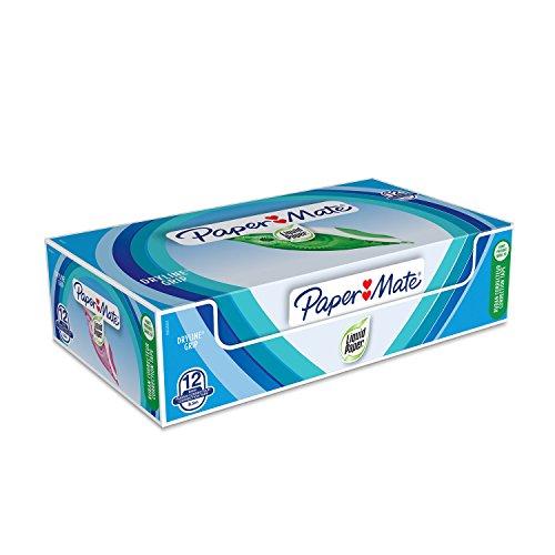 PaperMate Liquid Paper DryLine Grip cinta correctora, colores surtidos, caja de 12