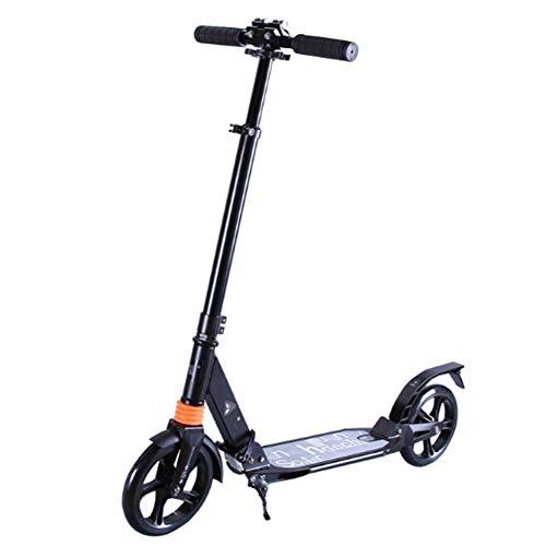 HFJKD Städtische Scooter, leicht höhenverstellbar, Kinderroller, mit 200 mm großen Rädern, Aluminium Folding Erwachsener Kick-Stadt Scooter Commuter